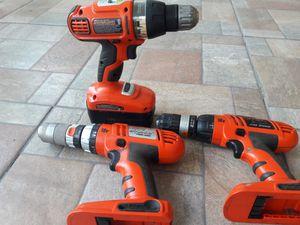 Balck&decker drill set of 3,18volt cordless for Sale in Tampa, FL