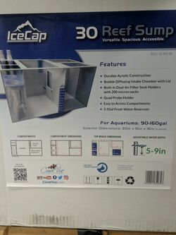 NIB Ice Cap Sump For Fish Tank for Sale in Stockton,  CA