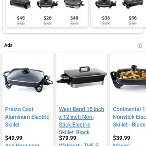 Afterward Eletric. Nonstick Skillet.lists From $46-$00 YOUR Price$$25.00 New.. for Sale in Tampa, FL