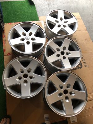 """Jeep Wrangler JK 17"""" Wheels/Rims. OEM with no damage for Sale in Frisco, TX"""