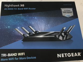 Netgear Nighthawk X6 AC3000 Tri-Band Wifi Router R7900 for Sale in Glendora,  CA