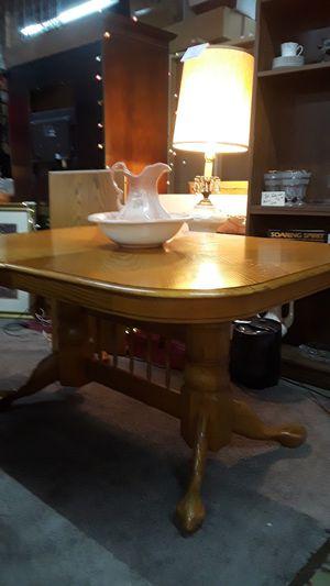Antique Tallis Oak Lions Head w Double Pestal Table for Sale in Warren, MI