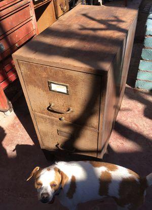 Military metal mini file cabinet on metal legs for Sale in Las Vegas, NV