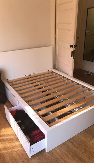IKEA queen size bed frame w/storage for Sale in San Francisco, CA