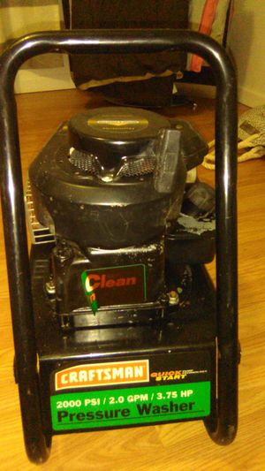Craftsman 2000 psi/2.0 gpm/3.75H.P. PRESSURE WASHER for Sale in Arnold, MO