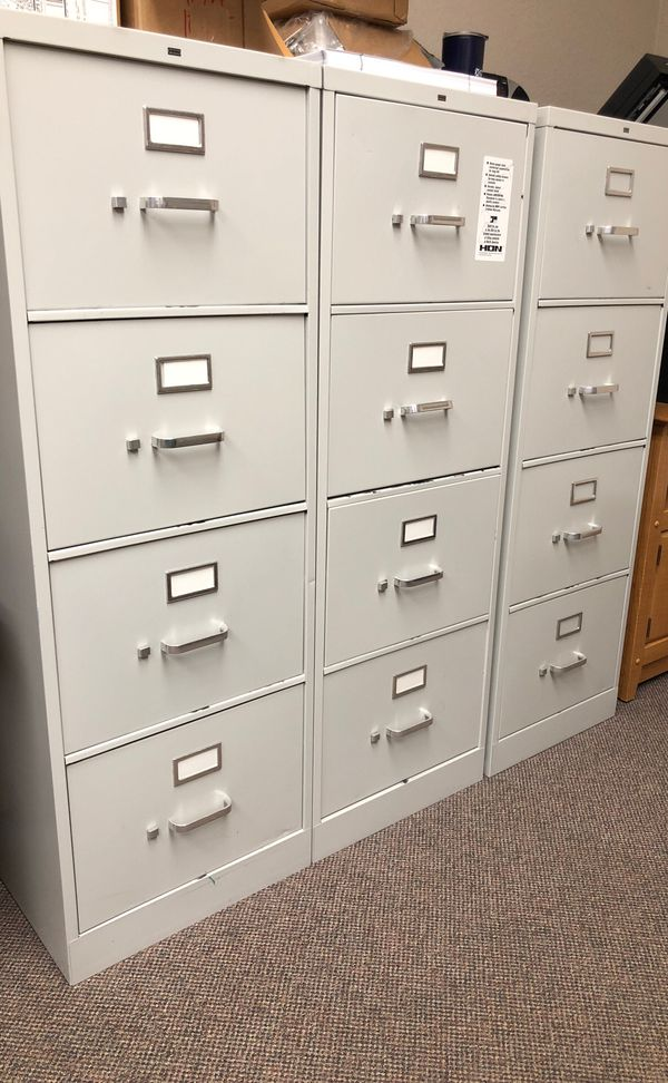 4 drawer legal metal file cabinets