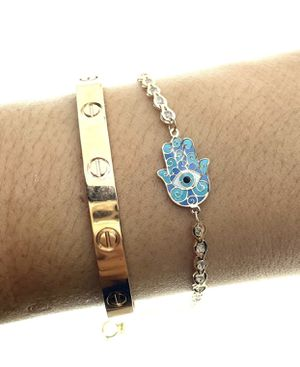 14kt gold lucky hamsa charm bracelet for Sale in Los Angeles, CA