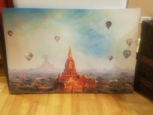 Canvas painting with hot air balloons for Sale in Chicago, IL