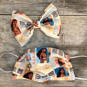Moana Hair Bow/Mask Set for Sale in La Puente, CA