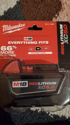 Milwaukee m18 XC 5.0 battery for Sale in Lake Forest, CA