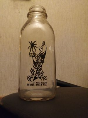 Antique milk bottle from local dairy for Sale in Polk City, FL