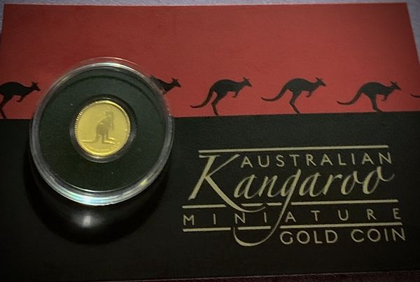 2019 Australia 1/2 Gram Gold Kangaroo Mini Roo BU (Assay Card)