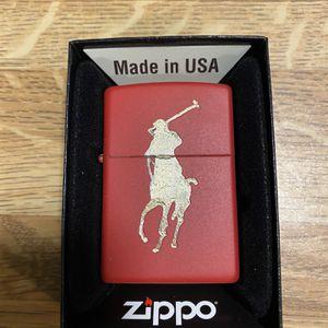 Zippo Polo Horse Logo(red) for Sale in Cut Off, LA