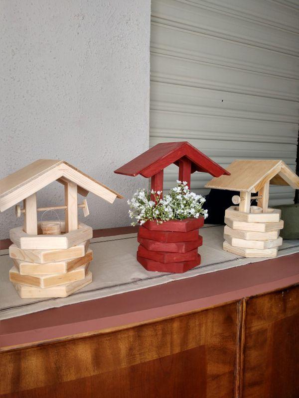 Handcrafted Wooden Wishing Wells