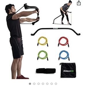 Gorilla Bow Portable Home Gym Resistance Bands and Bar System for Sale in Arlington, VA