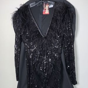 Long Sleeve Black Sequin Gown for Sale in Woodbridge, VA