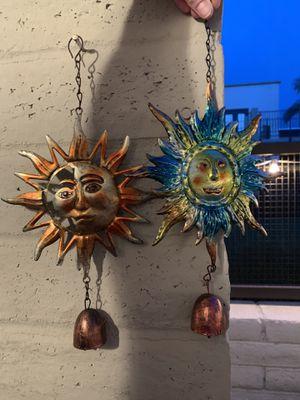 2 for $5 sun metal wind chimes for Sale in Phoenix, AZ