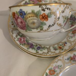 Antique 1924 China Dresden 4 Tea Cup And 7 Saucer for Sale in Henderson, NV