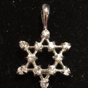 Diamond sterling silver star pendant for Sale in Colesville, MD
