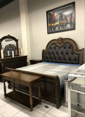 🍾🍾 Best Offer ‼ EXCULUSIVE] Stanley Cherry Brown Sleigh Bedroom Set 82 for Sale in Jessup, MD
