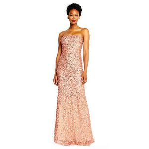 Rose Gold Gala Dress - Adriana Papell - Size 4 for Sale in Silver Spring, MD