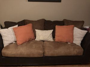 Chocolate and Caramel Sofa Set for Sale in Columbia, SC
