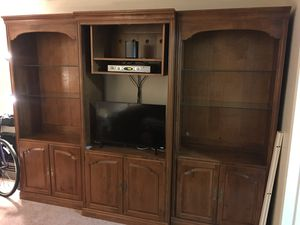 Solid Wood Wall Unit (3 pieces) for Sale in Englewood, NJ