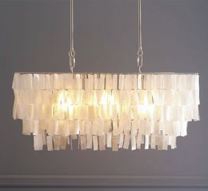West Elm - Rectangle Capiz Chandelier for Sale in Fairfax, VA