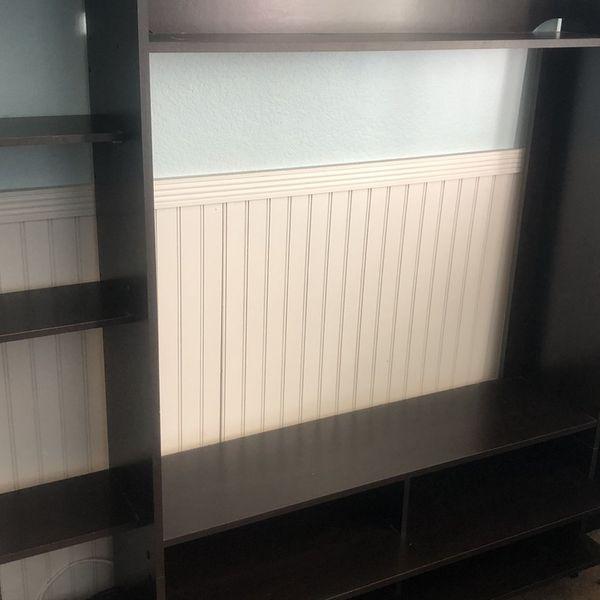 Media Center With Plenty Of Bookshelves