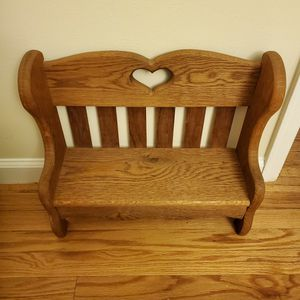 Antique Wooden Doll Bench for Sale in St. Peters, MO