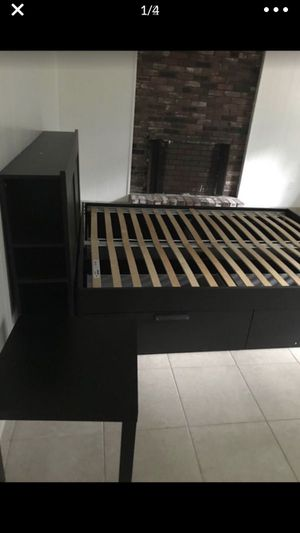 BEDFRAME HEAD BOARD AND TABLE for Sale in Lynnfield, MA