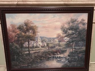 Framed Canvas Painting (Carl Valenete) for Sale in Fresno,  CA