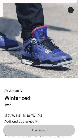 Jordan 4 retro winter for Sale in San Diego, CA