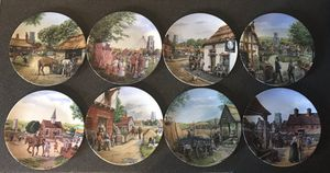 ROYAL DOULTON JOURNEY THROUGH THE VILLAGE FULL SET OF PLATES for Sale in Sterling, VA