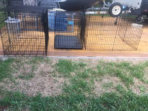 Dog cages and exercise pen for Sale in Davie, FL