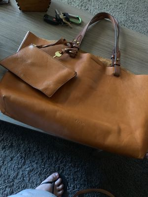 Brown leather fossil bag Rachel tote for Sale in Phoenix, AZ