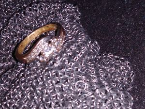 Silver plated diamond engagement ring for Sale in Litchfield Park, AZ