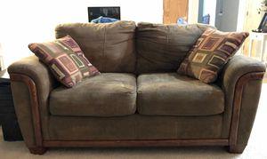 Sofa, love seat, oak coffee table, oak side tables for Sale in Bremerton, WA