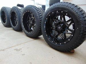 22X12 RBP Avenger Rims Black/Chrome Inserts LT 325 50 20 Atturo Tires for Sale in Aurora, CO