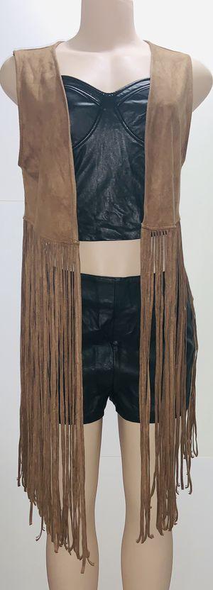 Brown Suede Fringed Vest for Sale in Biscayne Park, FL