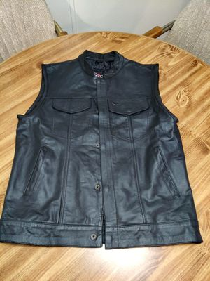 Leather motorcycle vest for Sale in Glendale, AZ