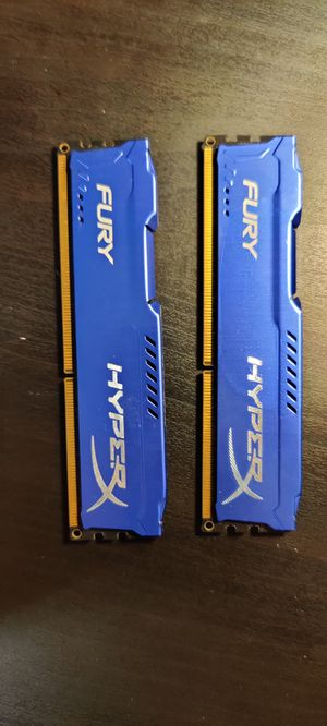 8GB HyperX DDR3 RAM - 2 x 4GB sticks for Sale in Pompano Beach, FL