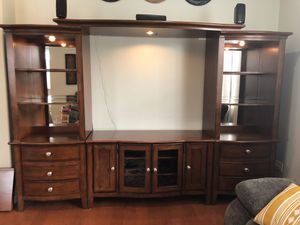 Solid Wood Entertainment Center for Sale in Parrish, FL
