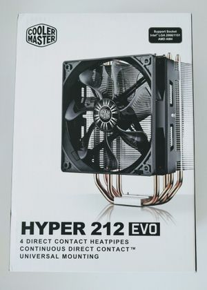 Hyper 212 EVO CPU Cooler 120PWM Fan 4Direct Contact HeatPipes Universal for Sale in Annandale, VA