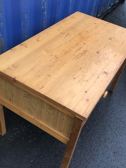 Pine Wood Desk With 2 drawers $62 for Sale in Lakewood,  WA