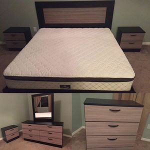 Complete Bedroom Set with New Mattress for Sale in North Miami Beach, FL