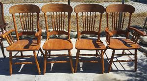 Wood dinning chairs for Sale in San Bernardino, CA