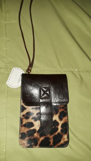 Leather leophard small wrist wallet . for Sale in Vernon, CA