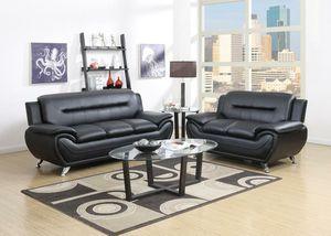 Enna Black Sofa & Lotrveseat   U2701 for Sale in Beltsville, MD