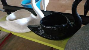 1960s ceramic swan planters mint condition for Sale in Glendale, AZ
